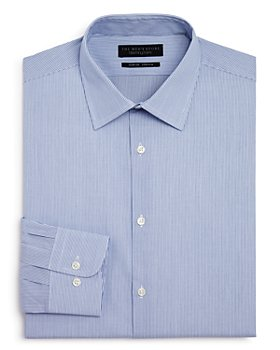The Men's Store at Bloomingdale's - Fine Shadow Striped Stretch Slim Fit Dress Shirt - 100% Exclusive