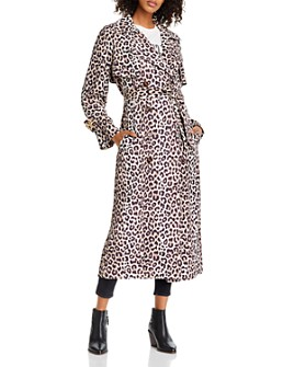 Notes du Nord - Olympic Leopard Print Trench Coat