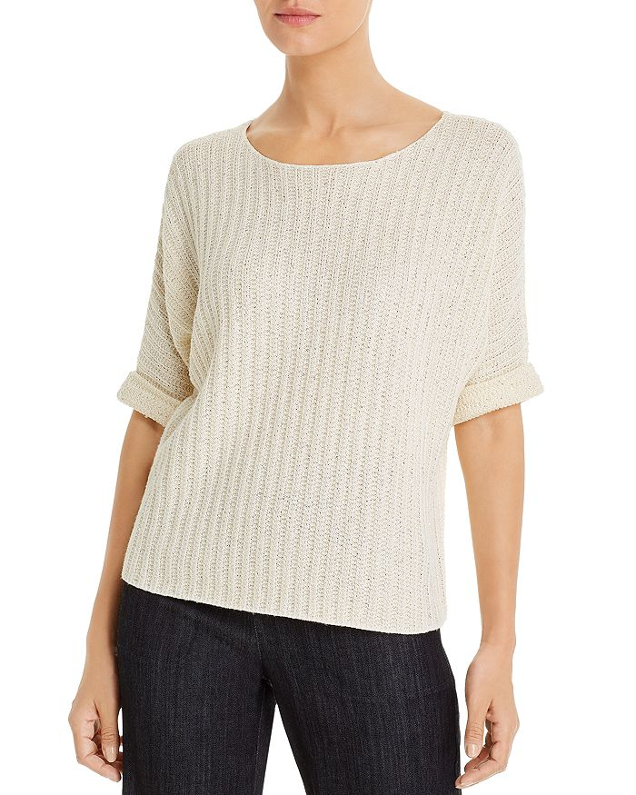 Nic And Zoe Glow For It Sweater In Alabaster