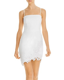 BCBGMAXAZRIA - Lace-Appliqué Mini Dress