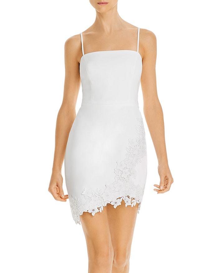 BCBGMAXAZRIA - Lace-Appliqué Mini Dress