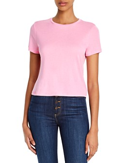 Alice and Olivia - Cindy Classic Cropped T-Shirt