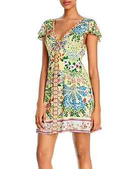 Alice and Olivia - Hadley Button-Front Flare Dress