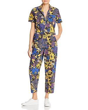 Mother The Zippy Floral Print Zippered Jumpsuit-Women