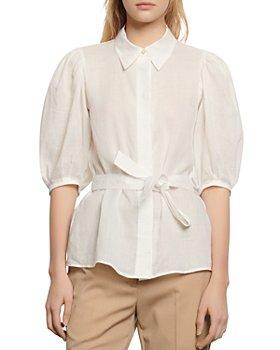 Sandro - Ivan Tie-Waist Shirt