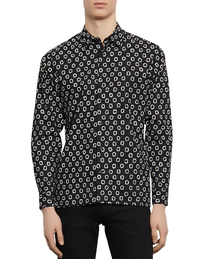 Sandro - Agnes Abstract Print Shirt