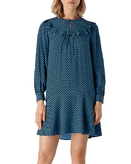 Whistles - Daisy Print Frill Dress