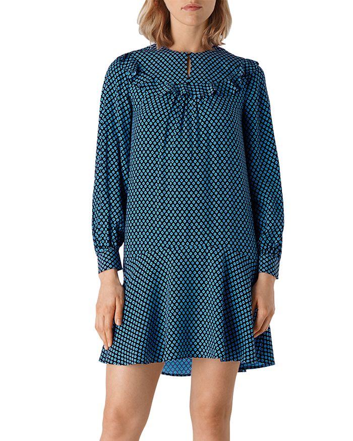 Whistles - Daisy Print Frill Dress