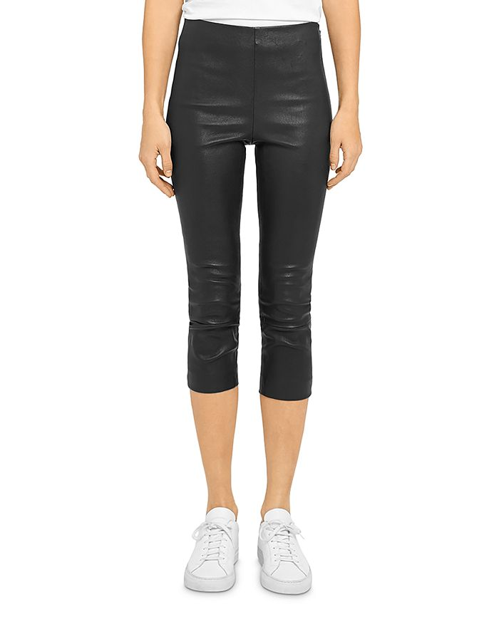 Theory SKINNY LEATHER CAPRI LEGGINGS