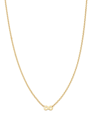 Zoe Chicco Itty Bitty 14K Yellow Gold Infinity Pendant Necklace, 16-Jewelry & Accessories