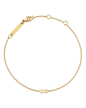 Zoe Chicco Itty Bitty 14K Yellow Gold Infinity Charm Bracelet-Jewelry & Accessories