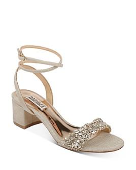 Badgley Mischka - Women's Jada Embellished Strappy Sandals