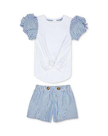 Habitual Kids - Girls' Saige Ruffle-Sleeve Top & Shorts Set - Little Kid
