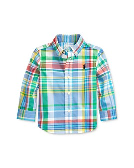 Ralph Lauren - Boys' Cotton Stretch Plaid Button-Down Shirt - Baby