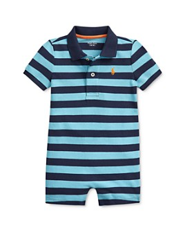 Ralph Lauren - Boys' Cotton Stripe Polo Shortalls - Baby
