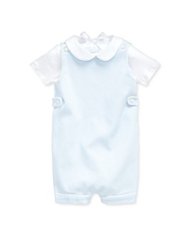 Ralph Lauren - Boys' Cotton-Stretch Dobby Overalls & Interlock Bodysuit Set - Baby