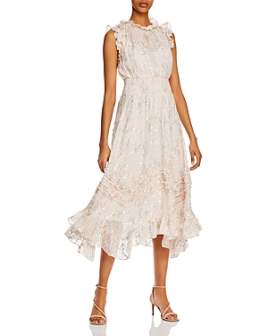 Rebecca Taylor Ruffled Smocked Dress-Women