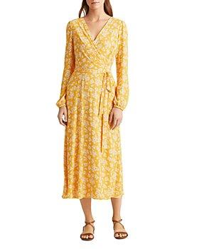 Ralph Lauren - Floral-Print Puff-Sleeve Dress
