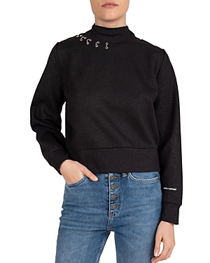 The Kooples Pierced Fleece Sweatshirt-Women