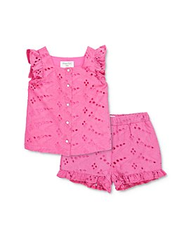 Sovereign Code - Girls' Amity Cotton Ruffled Eyelet Top & Lauralee Ruffled Eyelet Shorts Set - Baby