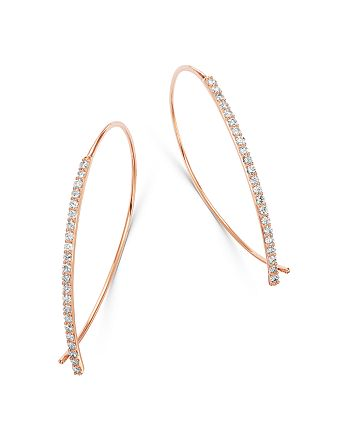 Bloomingdale's - Micro-Pave Diamond Threader Earrings in 14K Rose Gold, 0.50 ct. t.w. - 100% Exclusive