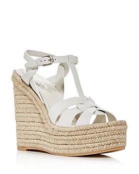 Saint Laurent - Women's Espadrille Platform Wedge Sandals
