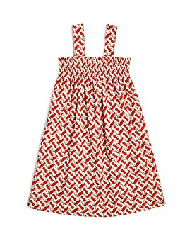 Burberry - Girls' Junia Monogram Poplin Dress - Little Kid, Big Kid