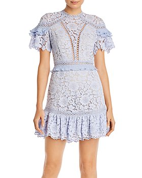 Saylor - Julep Lace Ruffled-Trim Dress