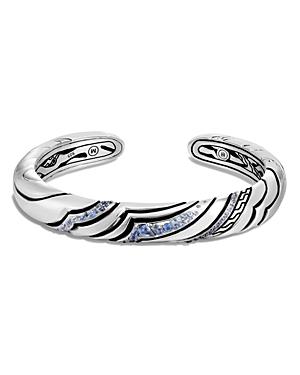 John Hardy Sterling Silver Lahar Blue Sapphire Cuff Bracelet