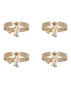 Joanna Buchanan - Monogram Gold Napkin Rings, Set of 4