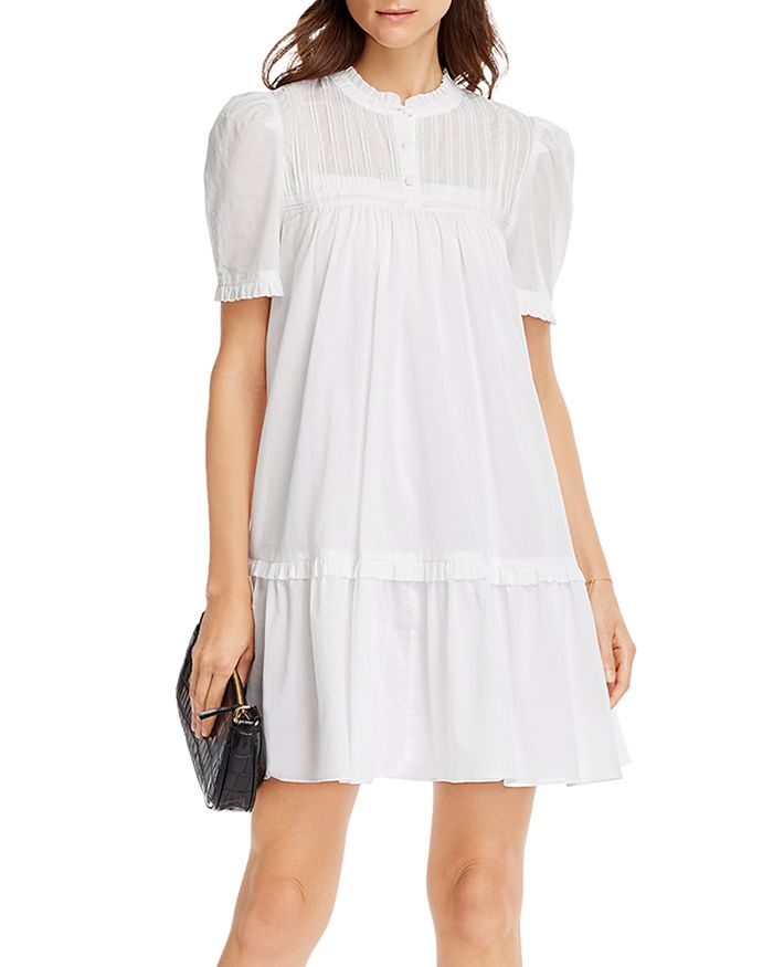 AQUA - Ruffled Shift Dress - 100% Exclusive