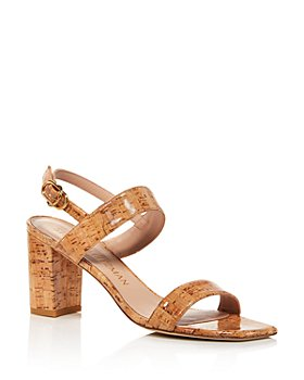 Stuart Weitzman - Women's Austine 75 Square-Toe Mid-Heel Sandals