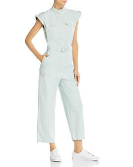 Sandro - Romine Belted Cap-Sleeve Jumpsuit