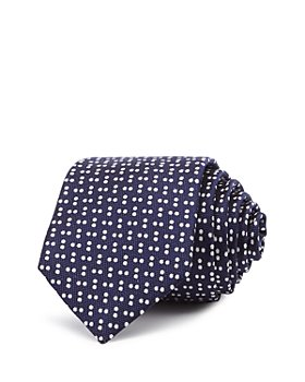 Theory - Roadster Minerva Scattered Dots Silk Skinny Tie