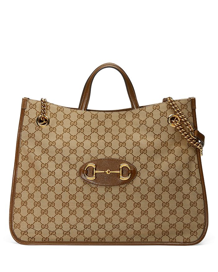 Gucci - 1955 Horsebit Large GG Canvas Tote Bag