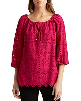 Ralph Lauren - Eyelet Peasant Top
