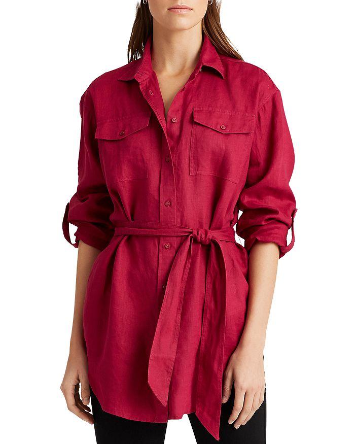 Ralph Lauren - Tie-Waist Button-Down Shirt