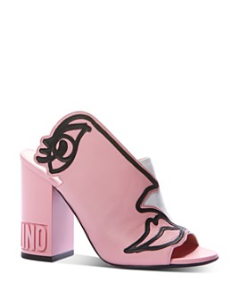 Moschino - Women's Abstract Face High-Heel Sandals