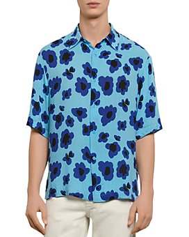 Sandro - Poppies Print Casual Short Sleeve Button-Up Shirt