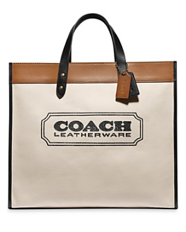 COACH - Branded Coach Canvas Large Field Tote 40