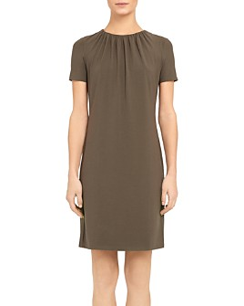Theory - Ruched-Neck Dress