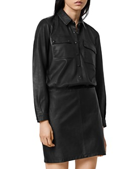 ALLSAINTS - Kadi Leather Mini Dress
