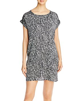 Eileen Fisher - Printed Boat-Neck Dress - 100% Exclusive