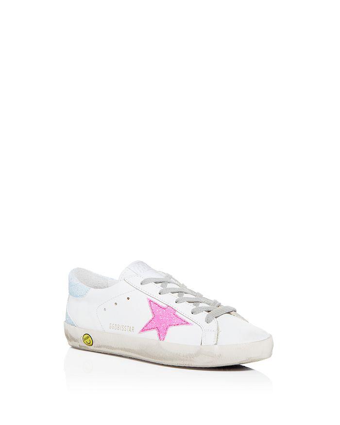 Golden Goose Deluxe Brand - Girls' Superstar Glitter-Embellished Low-Top Sneakers - Toddler, Little Kid