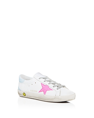 Golden Goose Deluxe Brand Girls' Superstar Glitter Embellished Low-Top Sneakers - Toddler Little Kid