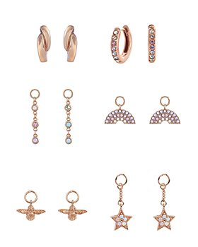 Olivia Burton - Rainbow House of Huggies Hoop Earrings Gift Set in Rose Gold-Plated Sterling Silver