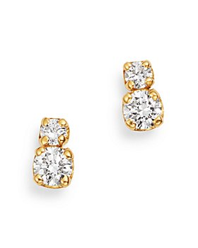 Zoë Chicco - 14K Yellow Gold Prong Diamonds Diamond Stud Earrings