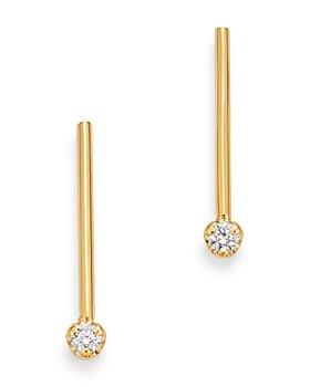 Zoë Chicco - 14K Yellow Gold Prong Diamonds Diamond Matchstick Drop Earrings