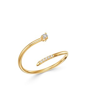 Zoë Chicco - 14K Yellow Gold Prong Diamonds Diamond Bypass Ring