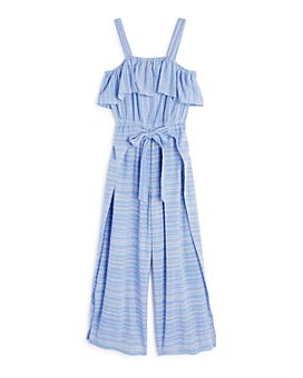 Habitual Kids - Girls' Cotton Striped Apron Jumpsuit - Big Kid